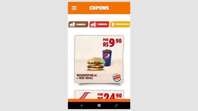 Burger king cupom
