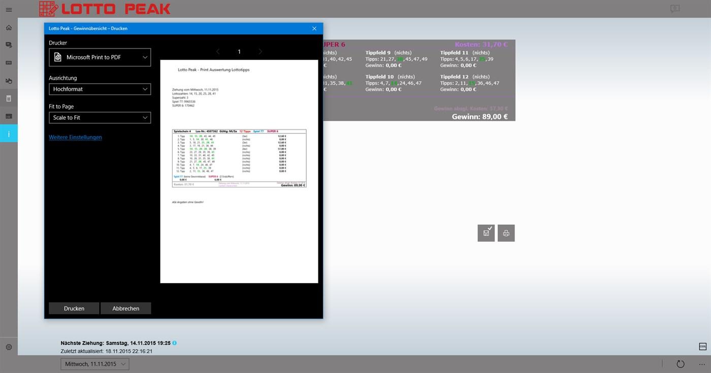 Lotto Peak – (Windows Apps) — AppAgg