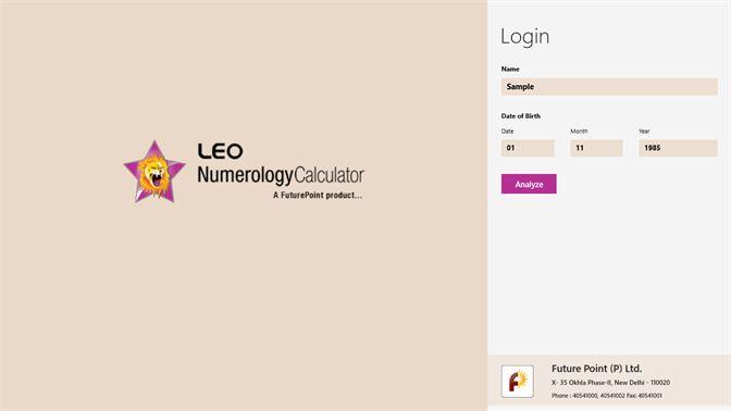 Get Leo Numerology Calculator - Microsoft Store