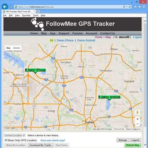 Get gps tracker by followmee microsoft store screenshot to view location of your tracked devices you just login to the followmee gumiabroncs Gallery
