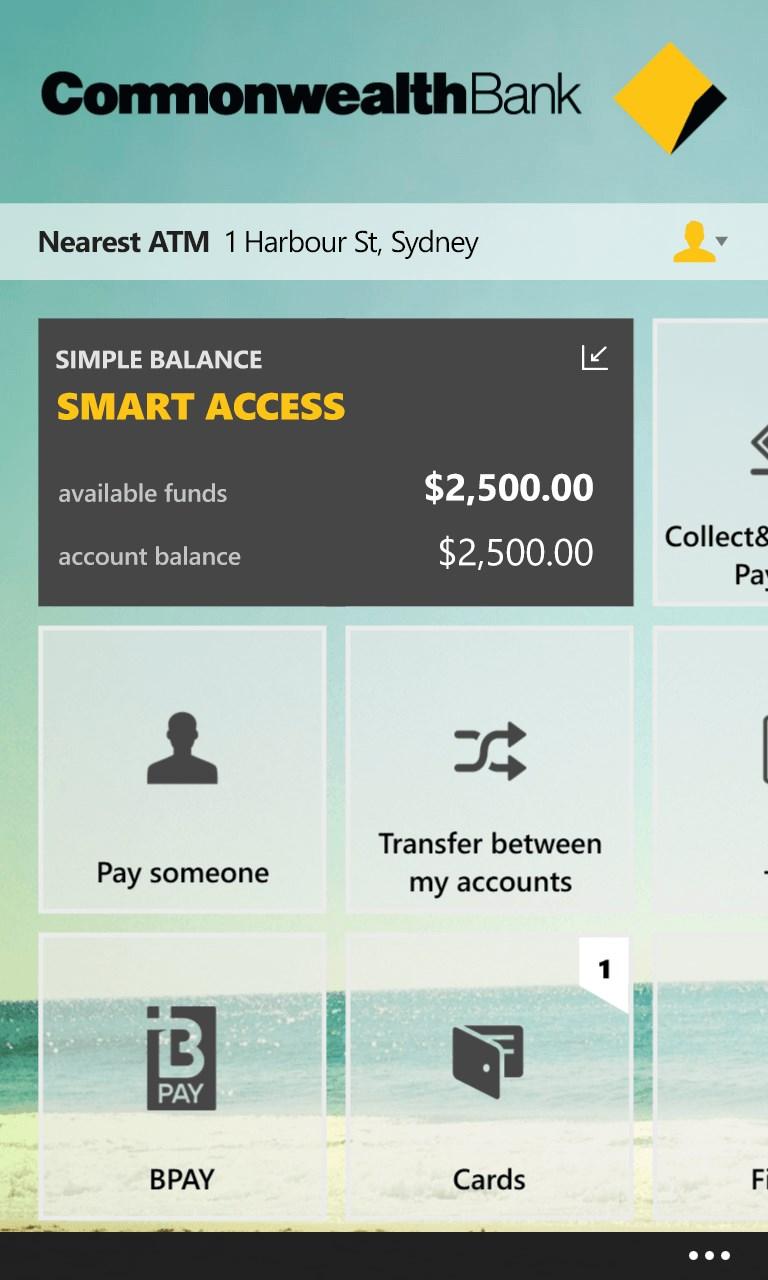 CommBank for Windows 10 Mobile