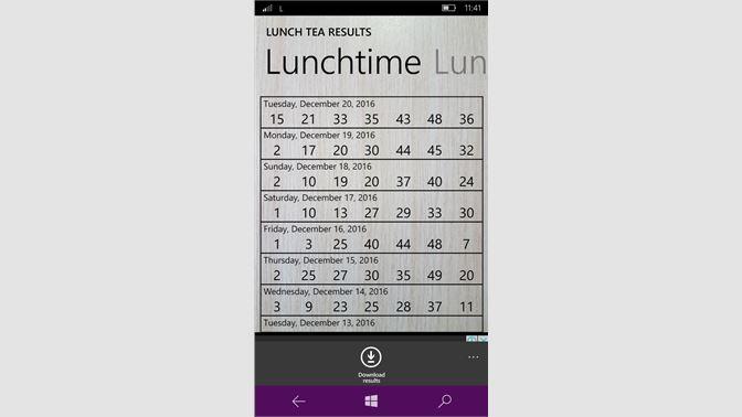 Get Lunch and Tea Lotto Results - Microsoft Store en-ZA