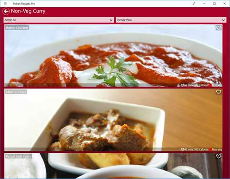 Get indian recipes free cookbook microsoft store screenshot view recipe listing as picture or text view forumfinder Gallery