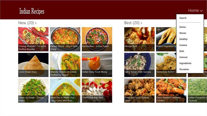 Get indian recipe microsoft store screenshot home screenshot top menu forumfinder Image collections