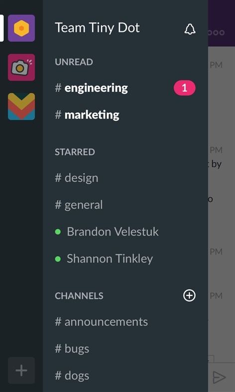 Slack (Beta) Screenshot