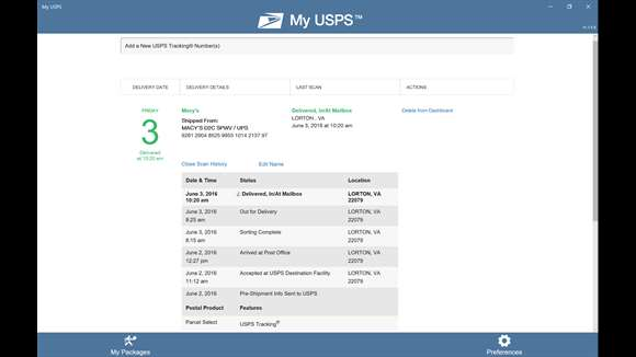 United States Postal Service release a UWP App for Windows 10 4