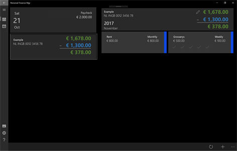 Personal Finance Mgr Screenshots 1