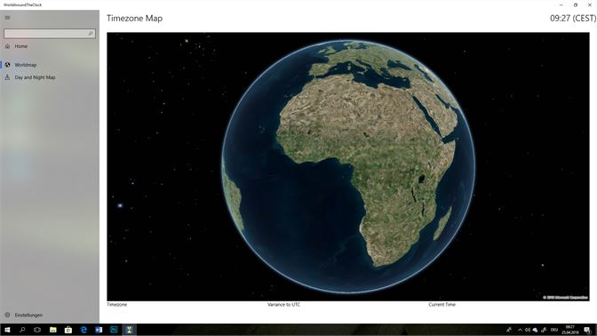 Get worldaroundtheclock microsoft store screenshot page with the world map one click shows the time zone gumiabroncs Choice Image