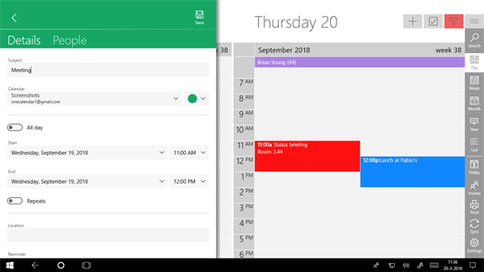 One Calendar screenshot 2