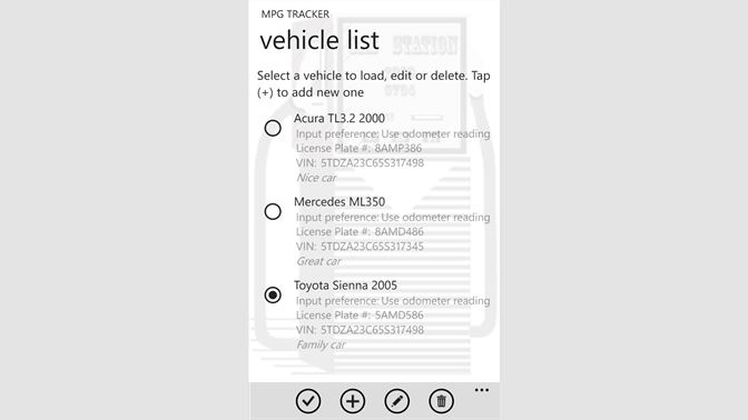get mpg tracker microsoft store