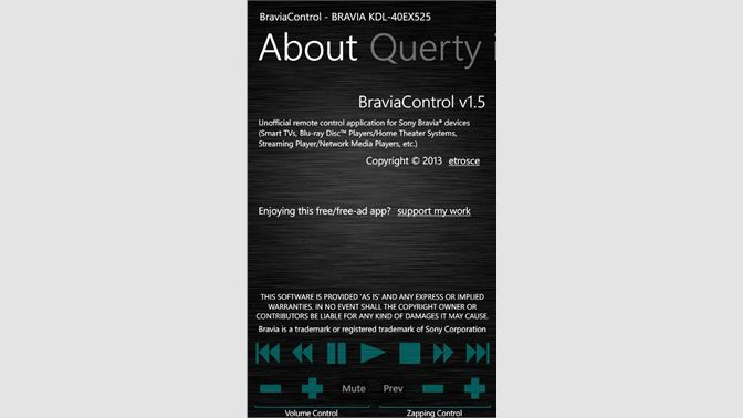 Buy Bravia Control - Microsoft Store