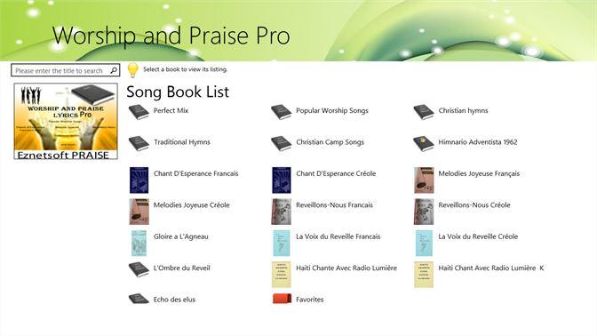 Buy Worship and Praise Pro - Microsoft Store