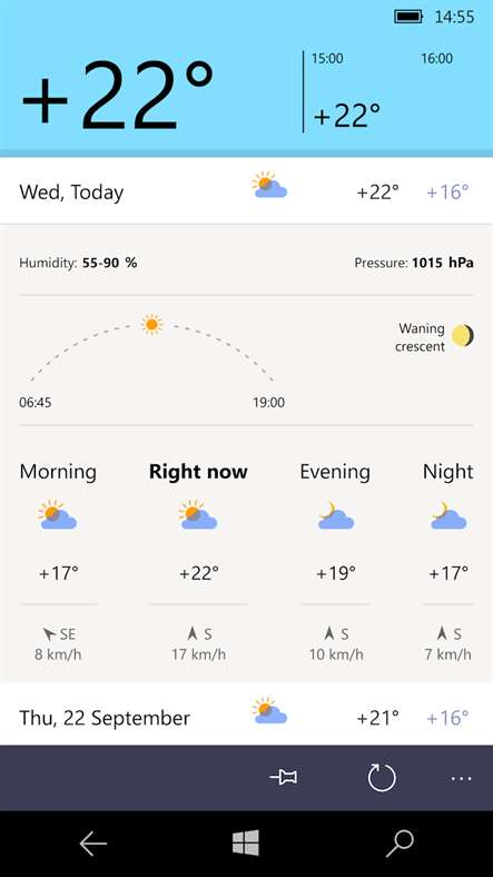 Yandex release their Yandex.Weather app for Windows Phone 2