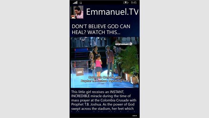 Get Emmanuel TV - Microsoft Store