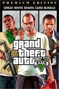 Bundle Grand Theft Auto V: Edição Online Premium e Pacote de Dinheiro Tubarão-Branco