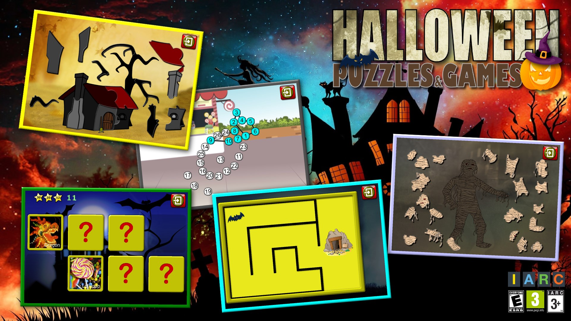 get kids halloween jigsaw puzzle logic and memory games for preschool children microsoft store