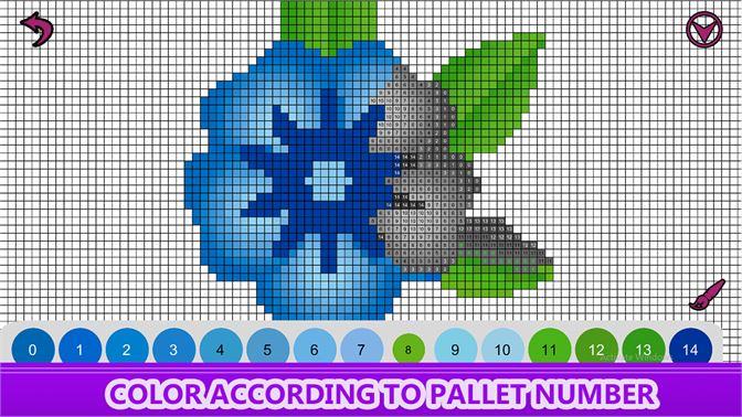 Get Flowers Color by Number - Pixel Art , Sandbox Coloring ...