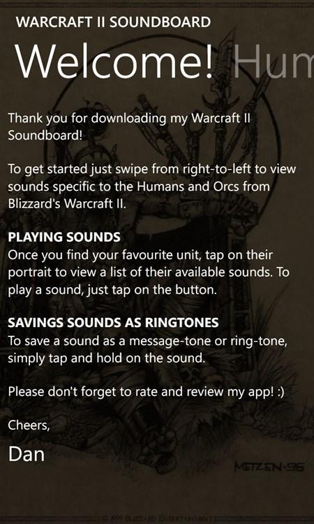 Wc2 Soundboard Windows Phone Apps Appagg