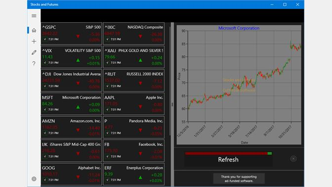 Get stocks and futures microsoft store screenshot windows 10 uwp app ccuart Image collections