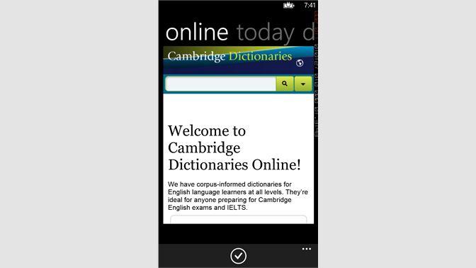 Get Connect Cambridge Online Dictionary - Microsoft Store en-MY
