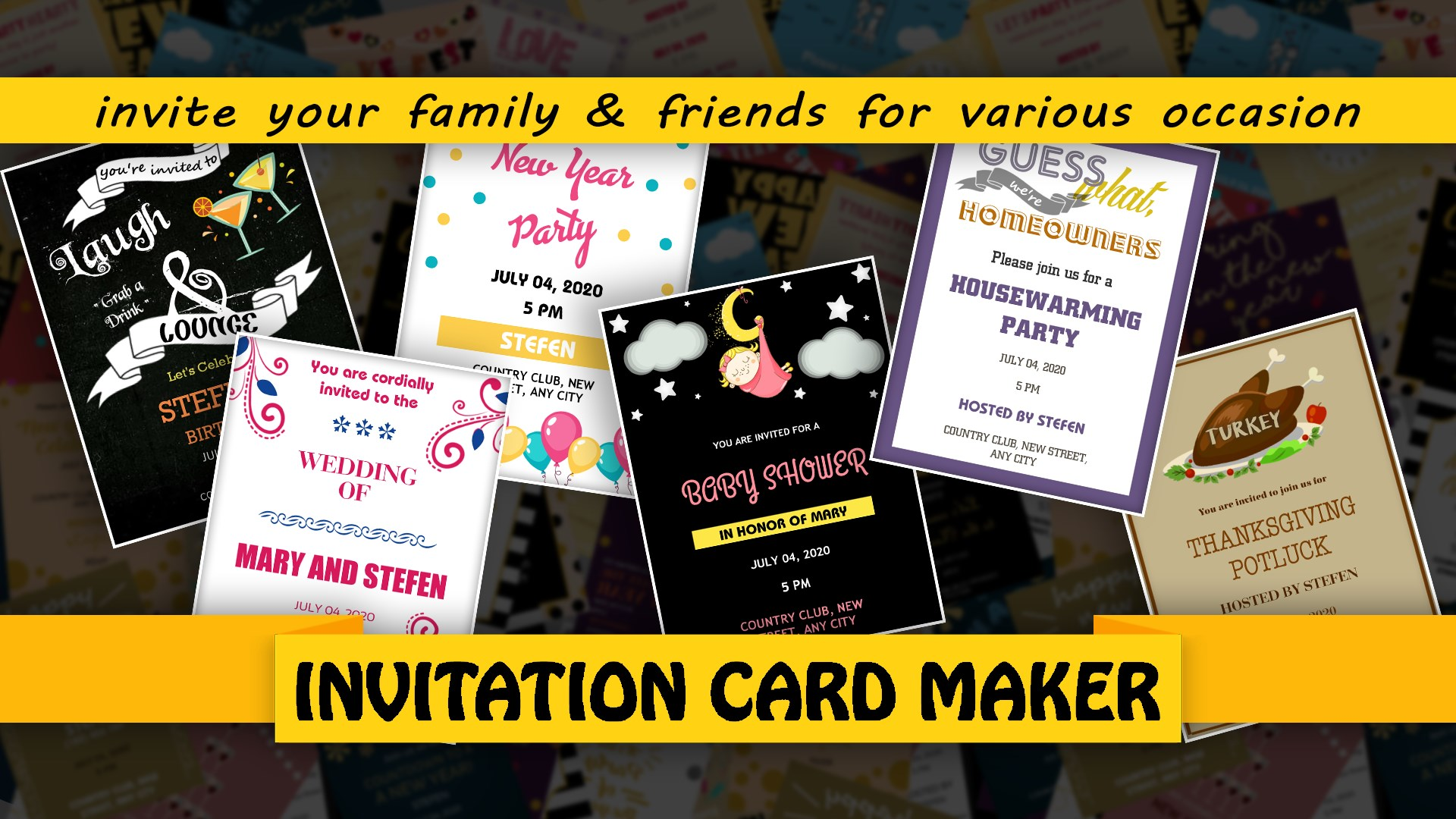 Acquista Invitation Card Maker E Cards Digital Invites