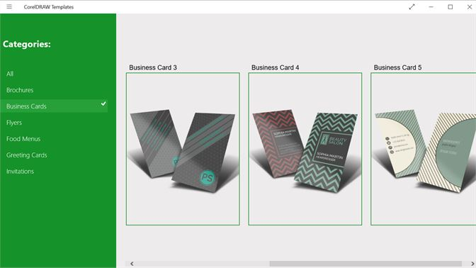 Preview Of Some Business Card Templates For CorelDRAW