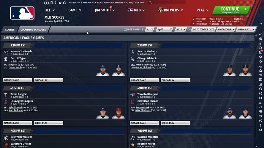 Out of the Park Baseball 21 Screenshot