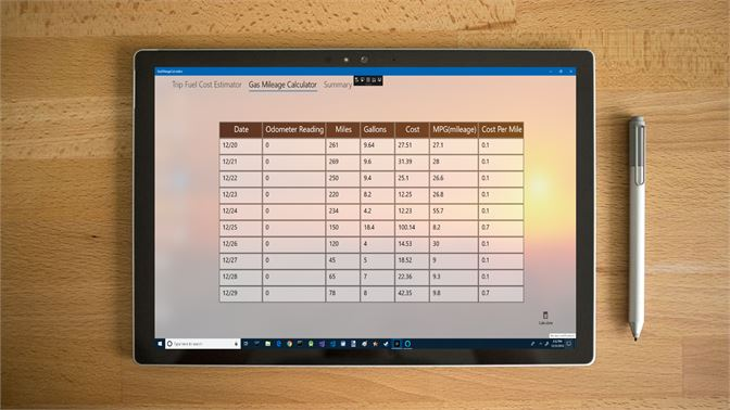 Gas Mileage Calculator >> Get Gas Mileage Log And Calculator Microsoft Store