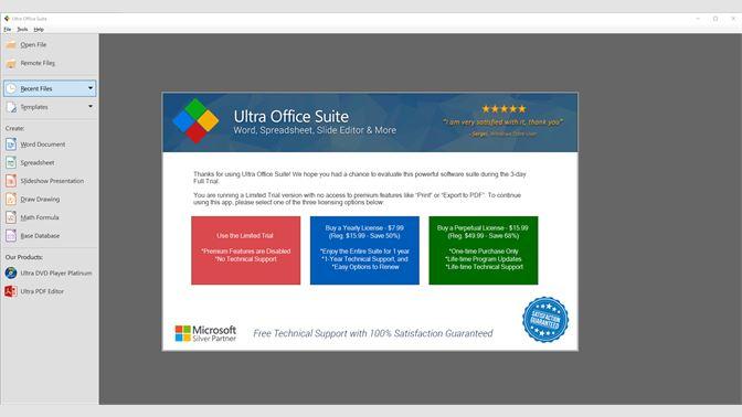 Get Ultra Office Suite - Word, Spreadsheet, Slide Editor & more