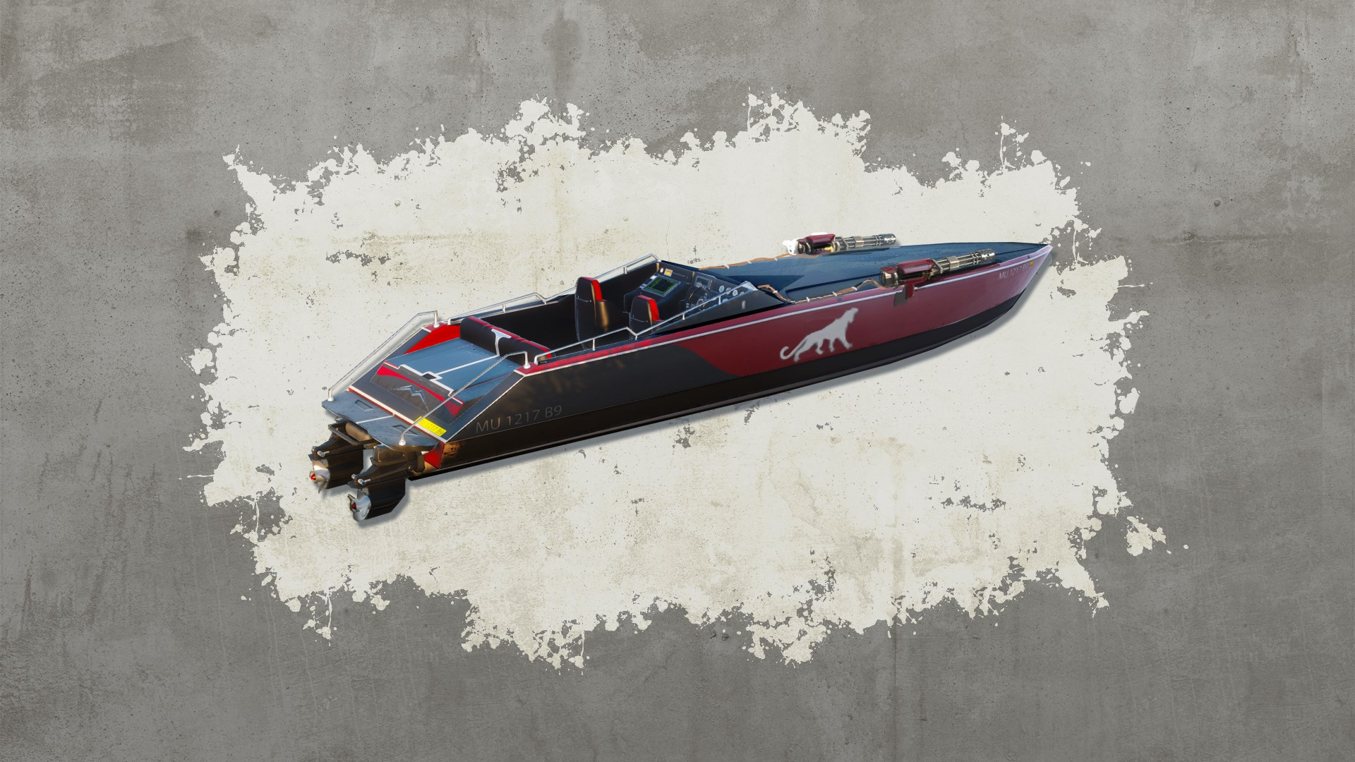 Mini-Gun Racing Boat