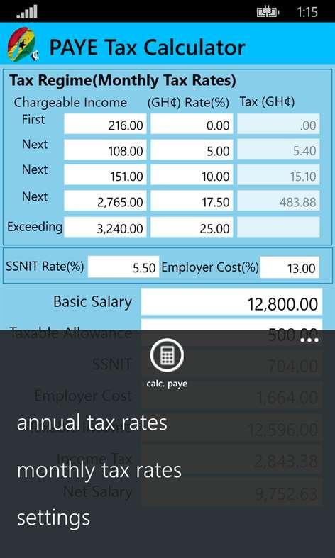 Get PAYE Tax Calculator Microsoft Store – Income Tax Calculator