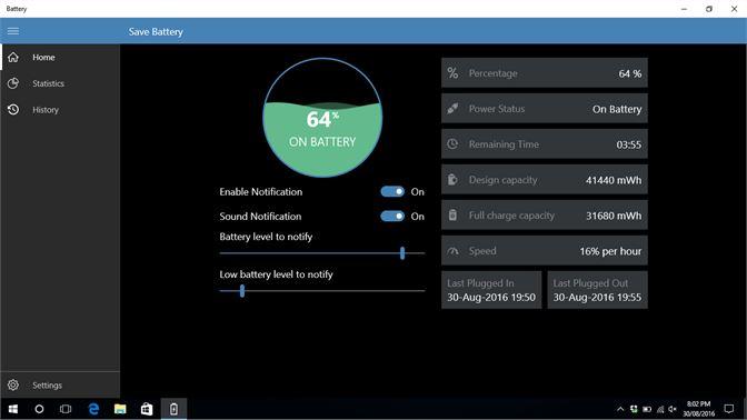 أفضل برامج مراقبة البطارية لويندوز 10 لزيادة أداءها 1