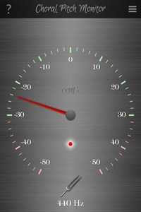 Choral Pitch Monitor