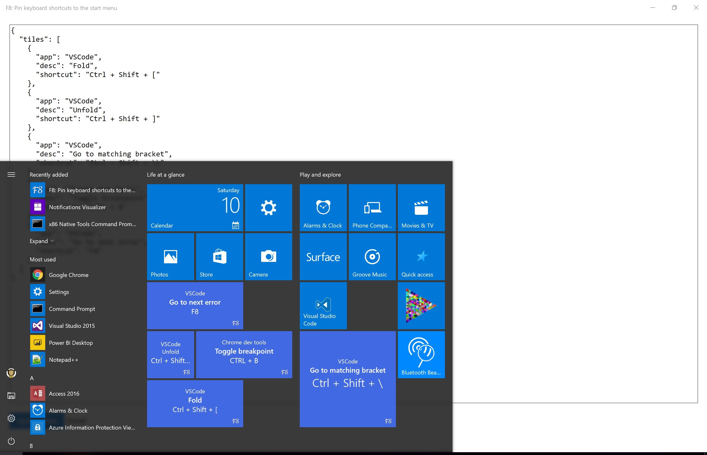 how to create start menu shortcut in windows 8