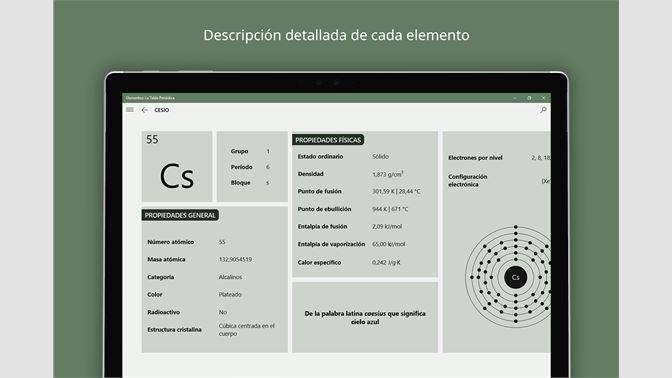 Obtener elementos la tabla peridica microsoft store es ar elementos la tabla peridica urtaz Choice Image