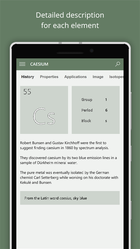 screenshot - Periodic Table Applications