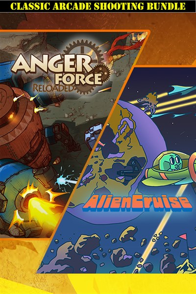 AngerForce and AlienCruise Arcade Shooting Bundle