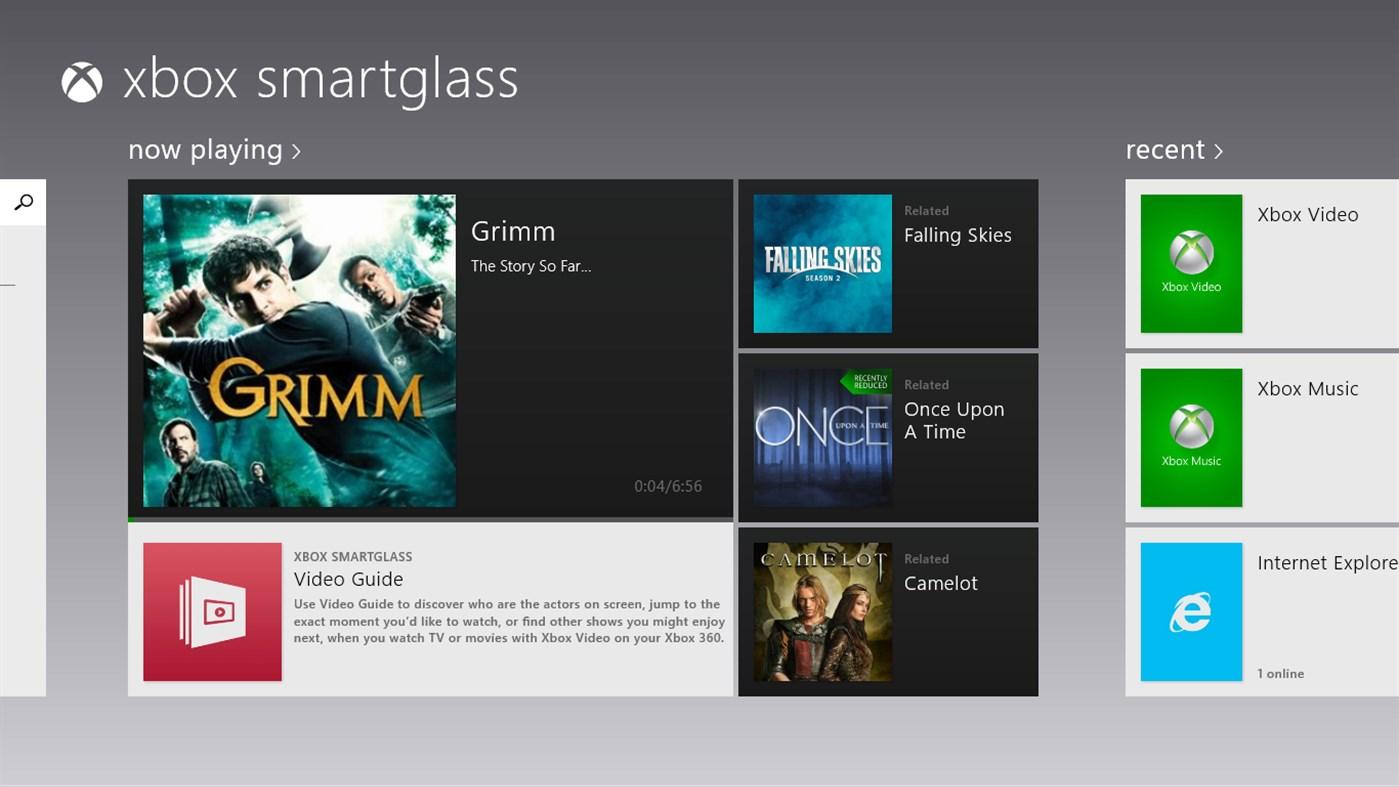 Xbox SmartGlass for Win8 UI  full