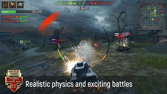 Battle Tanks: Legends of World War II 3D Tank Games screenshot 1