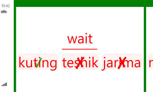 English - Uzbek Flash Cards screenshot 3