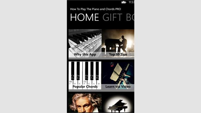Acquista How To Play The Piano And Chords Pro Microsoft Store It It