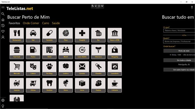 4eb00e340 Buscar Perto de Mim - Clique nos ícones para ver o resultado de empresas  próximas de ...