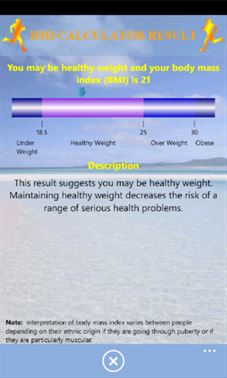 Volcor Software Health Meter | Windows Phone