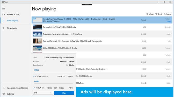 Get CCPlayer UWP Ad - Microsoft Store