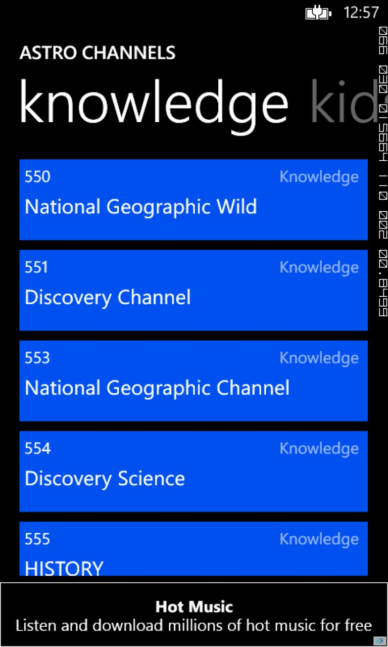 My TV Schedule for Windows 10 Mobile