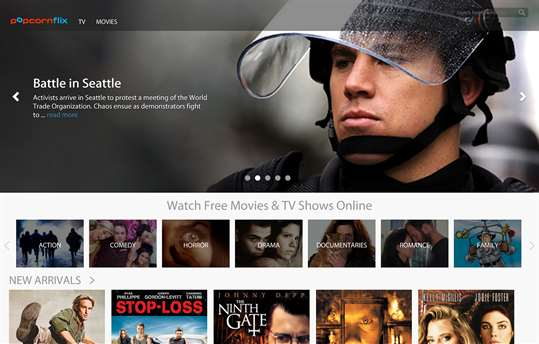 Popcornflix screenshot 1