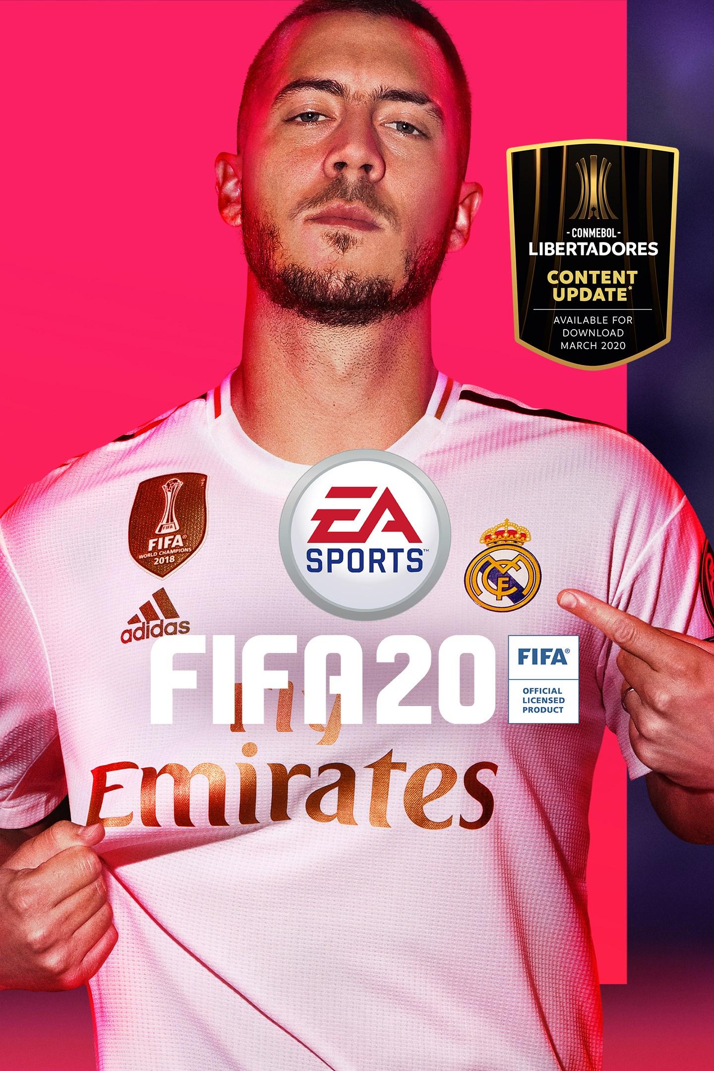 Imagen de la caja de FIFA 20