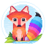 Pixel Fox : Color by Number Family Coloring Book