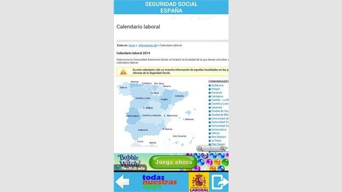 Seg Social Calendario Laboral.Get Todo Seguridad Social Espana Microsoft Store