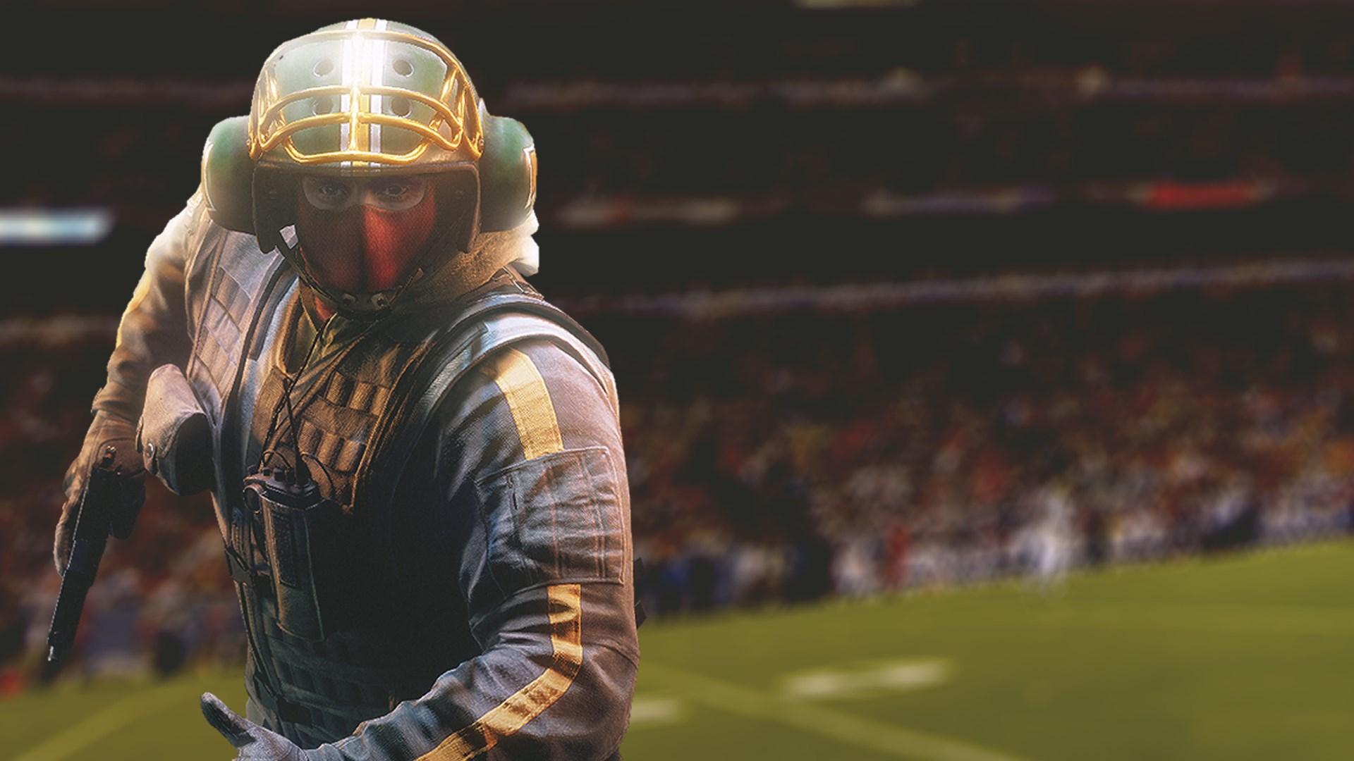 Tom Clancy's Rainbow Six Siege: Футбольный шлем для Bandit